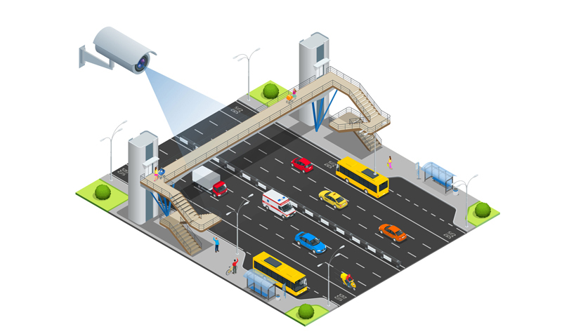 Intelligent traffic surveillance systems using industrial cameras improve safety and efficiency.