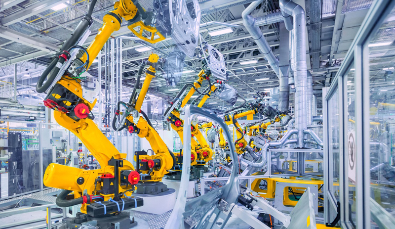 Robotic arms complete tasks which are too dangerous, repetitive or precise for humans.