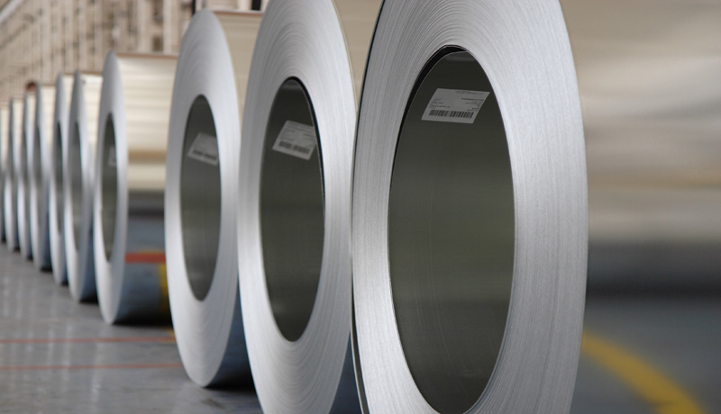 <strong>Machine vision and barcode tracking:</strong> Large steel products are easily tracked and checked for quality issues using barcode tracking with machine vision.