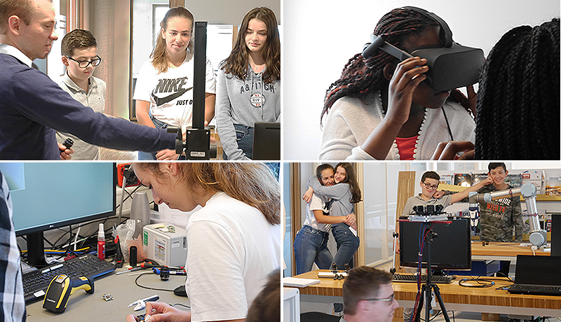 <strong>Girls' and Boys' Day 2018 at The Imaging Source:</strong> Learning about machine vision, 3D and virtual reality.