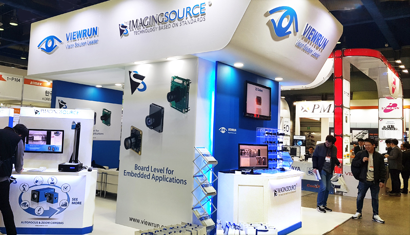 The Imaging Source and Viewrun at the 2018 Korea Vision Show.