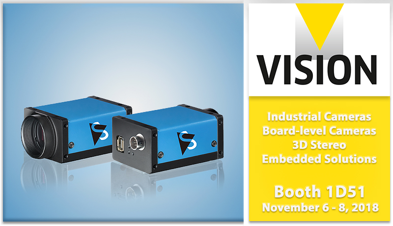 Join us at the world's leading trade fair for machine vision technology, <strong>VISION 2018.</strong>