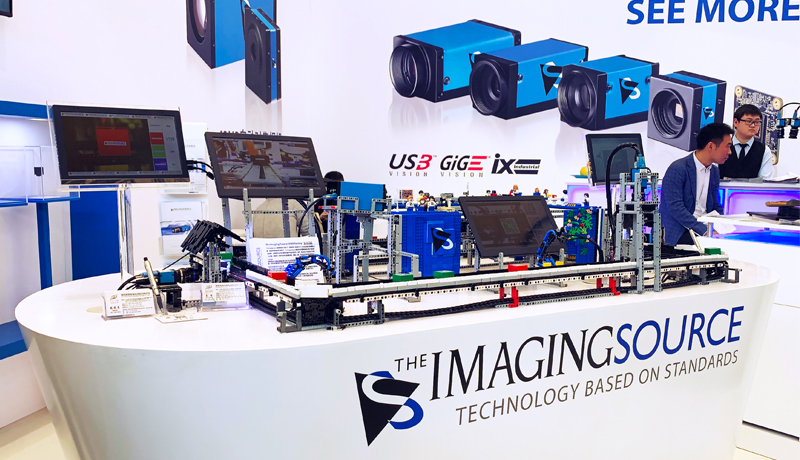 Which camera is right for the job? Working toy factory creates dynamic scenario for the display of camera features at VISION China Shanghai 2019.
