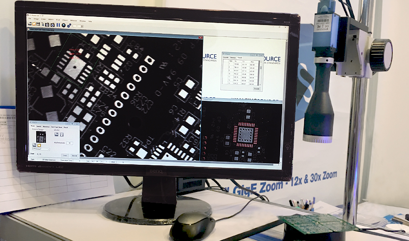 <strong>IC iVision</strong> display featuring the DMK 33GP1300 GigE camera, Hi Keen's telecentric lens and software by MiM Tech.