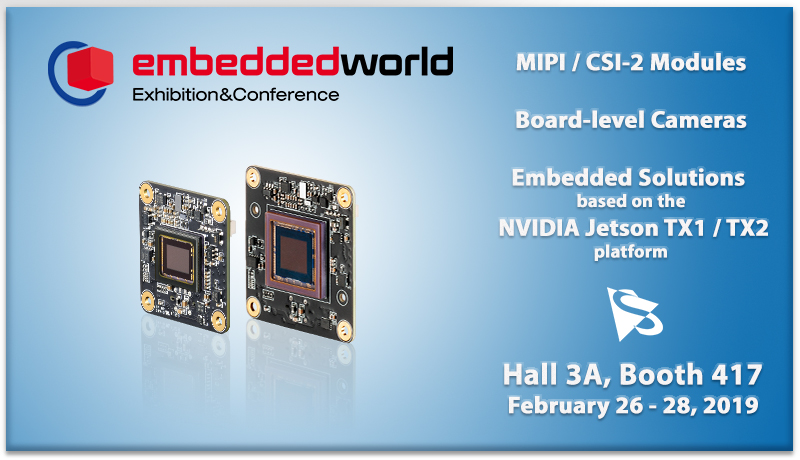 <strong>embedded world 2019:</strong> Join us at the leading international fair for embedded systems.