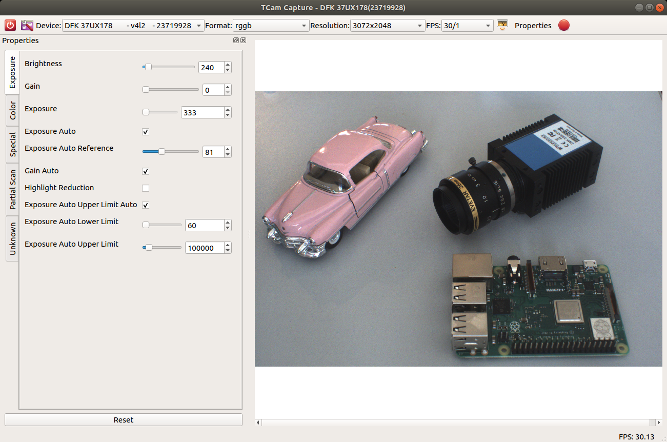 Tcam-Capture - end-user application to capture video streams and image sequences
