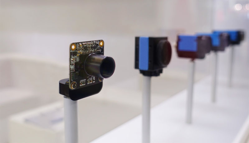 <strong>New 37 and 38 series (USB 3.1, gen.1)</strong> industrial and board-level cameras on display at Vision China Shanghai 2018.