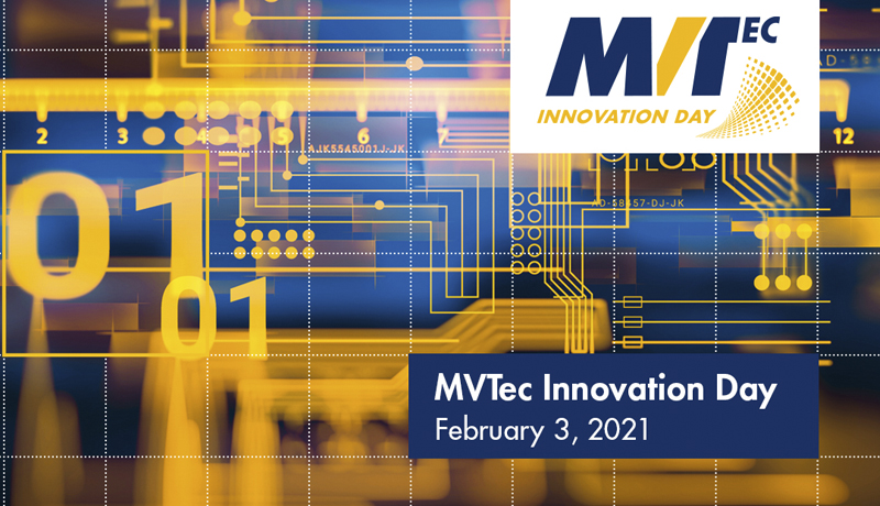 <strong>MVTec Innovation Day 2021</strong>: Auf der Agenda stehen unter anderem Deep Learning, OCR, die HALCON Toolbox, Shape-based und Surface-based Matching sowie Informationen aus Research@mvtec.