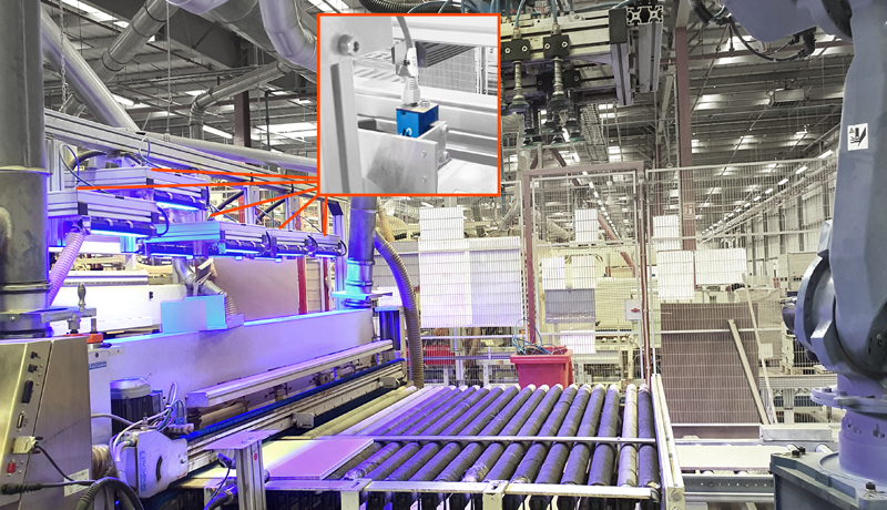 <strong>Five-camera automated visual inspection system</strong> for a large furniture manufacturer uses <strong>DMK33GX264 GigE industrial cameras</strong> and <strong>HALCON</strong> to inspect for the presence of drill holes on flat-pack furniture pieces.